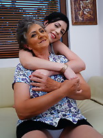 Wicked babe getting seduced by a lustful lesbian granny