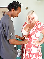Nasty British BBW going interracial