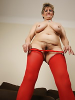 Old hooker playing with her lollypop