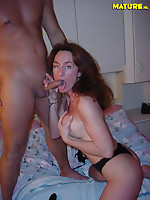 This hot MILF sure knows how to receive naughty